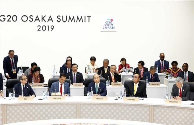 Sommet du G20: le PM Nguyen Xuan Phuc declare l'initiative du Vietnam pour l'ocean blue hinh anh 1
