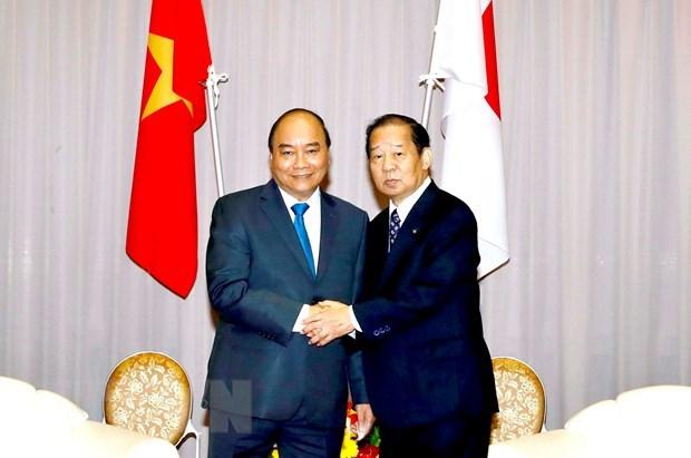 Le PM recoit le president de l'Alliance parlementaire d'amitie Japon-Vietnam hinh anh 1