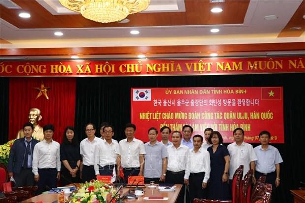 La province de Hoa Binh coopere avec une localite sud-coreenne hinh anh 1