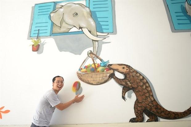 Street Art Bus Tour sensibilise a la protection de la faune hinh anh 1