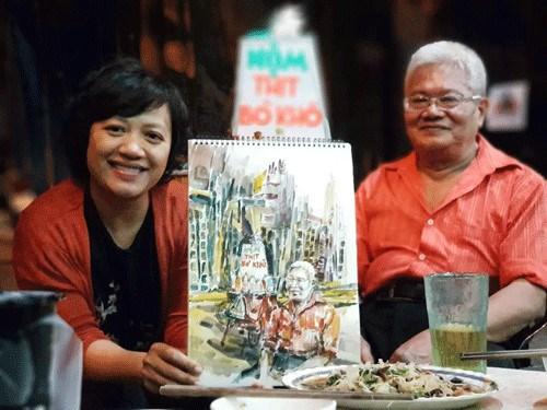 Ces dessinateurs urbains qui preservent les memoires de Hanoi hinh anh 1