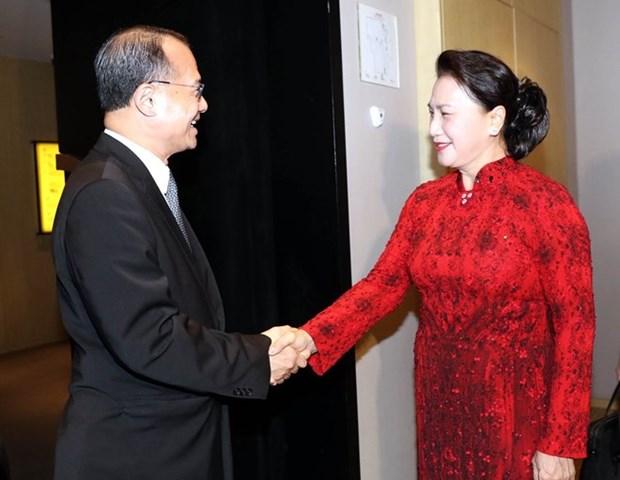 La presidente de l'AN du Vietnam recoit les dirigeants d'entreprises chinoises hinh anh 1