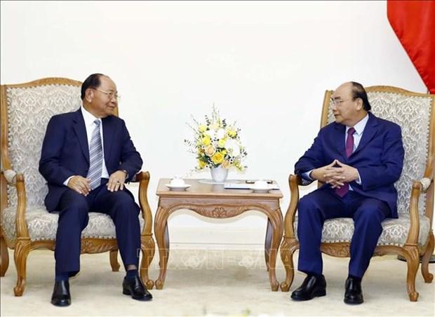 Le Premier ministre recoit le ministre laotien de l'Interieur hinh anh 1