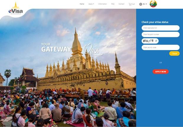 Le Laos lance son visa electronique hinh anh 1