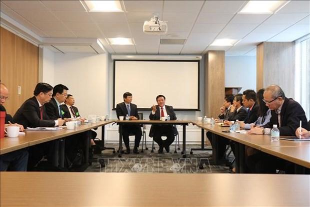 Une delegation de l'Academie nationale de politique Ho Chi Minh en tournee aux Etats-Unis hinh anh 1