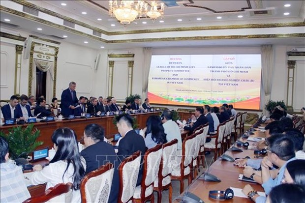 Ho Chi Minh-Ville veut cooperer avec les entreprises europeennes pour construire une ville intelligente hinh anh 1