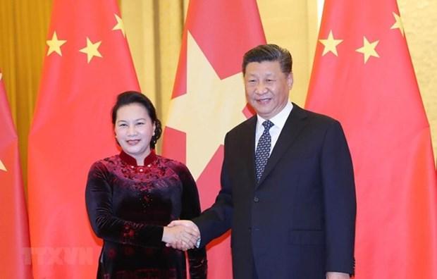La presidente de l'AN vietnamiennne rencontre le leader chinois Xi Jinping hinh anh 1