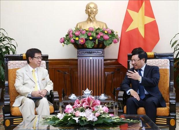 Le vice-PM et ministre des AE Pham Binh Minh recoit un responsable japonais hinh anh 1