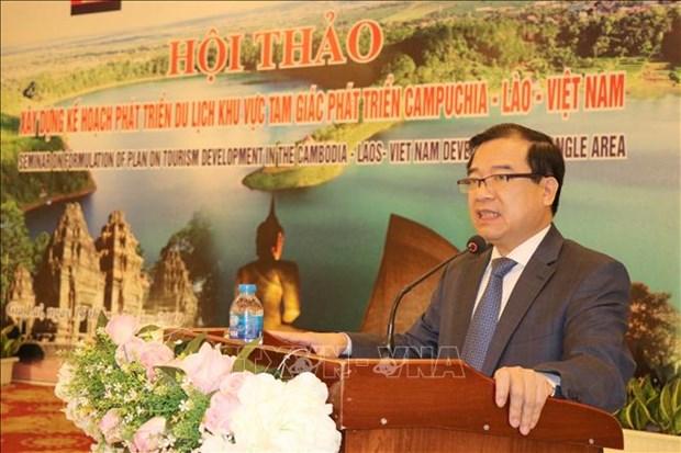 Le Cambodge, le Laos et le Vietnam resserrent la connectivite touristique hinh anh 1