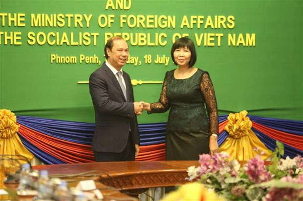 Consultation politique Vietnam-Cambodge hinh anh 1