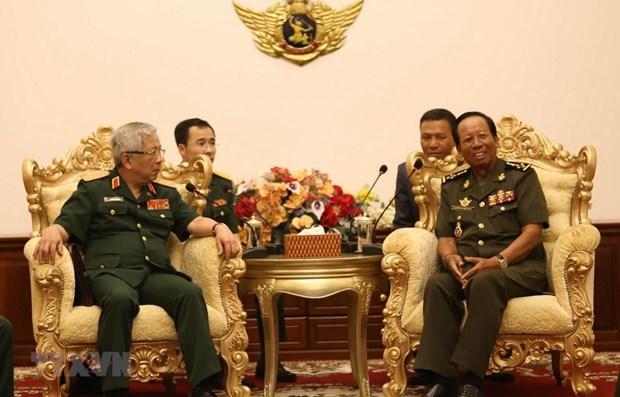 Vietnam et Cambodge souhaitent approfondir leur cooperation dans la defense hinh anh 1
