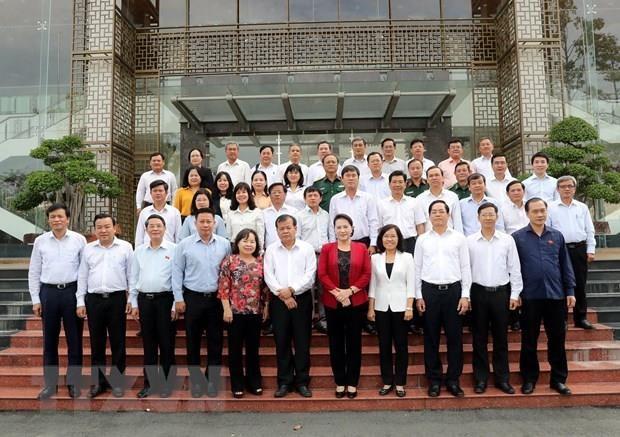 La presidente de l'AN Nguyen Thi Kim Ngan travaille avec les autorites de Tay Ninh hinh anh 1