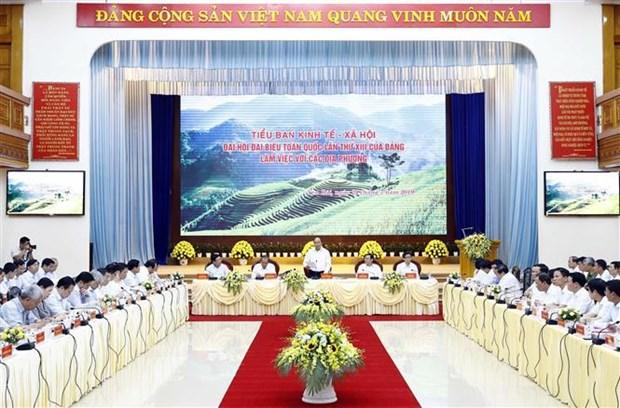 Pour le 13e Congres national du Parti : seance de travail avec plusieurs localites hinh anh 1