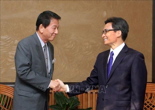 Le vice-PM Vu Duc Dam rencontre l'ambassadeur special Vietnam-Japon hinh anh 1