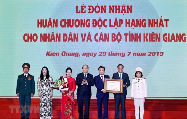 Le PM felicite Kien Giang pour ses efforts en faveur du developpement socio economique hinh anh 1