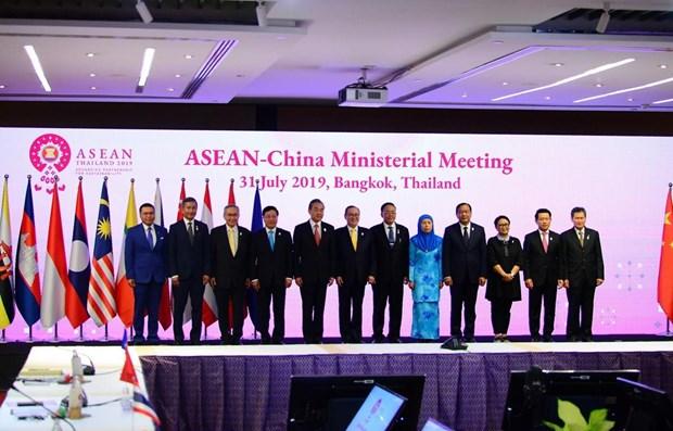 Les chefs de la diplomatie aseaniens et chinois se reunissent a Bangkok hinh anh 1