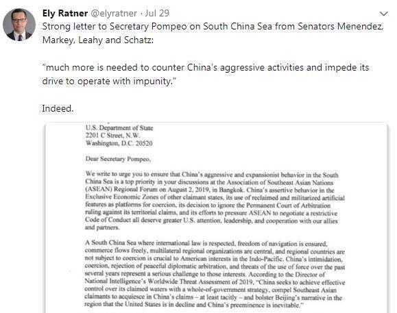 Des senateurs americains s'opposent aux actions chinoises en Mer Orientale hinh anh 1
