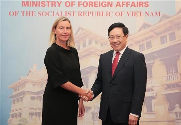 Le vice-PM Pham Binh Minh s'entretient avec la vice-presidente de la Commission europeenne hinh anh 1