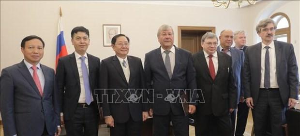 Une delegation du ministere de l'Interieur en visite de travail en Russie hinh anh 1