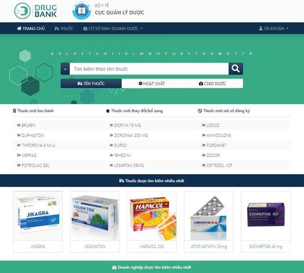 Le Vietnam lance un site Web sur son secteur pharmaceutique hinh anh 2