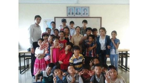 Cloture de l'annee scolaire 2018-2019 de l'Ecole primaire d'amitie Khmer-Vietnam Tan Tien hinh anh 1