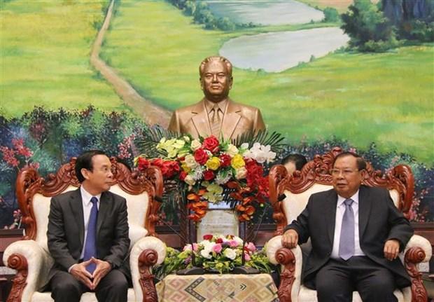 Une delegation du PCV en visite de travail au Laos hinh anh 1