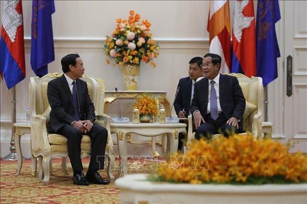 Une delegation du Parti en visite de travail au Cambodge hinh anh 1