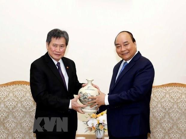 Le Premier minister Nguyen Xuan Phuc recoit le secretaire general de l'ASEAN hinh anh 1
