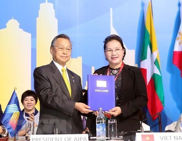 La presidente d'Assemblee nationale acheve sa visite en Thailande hinh anh 1