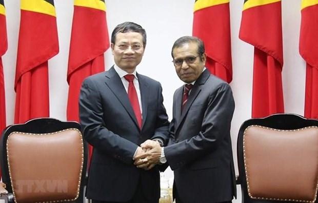 Le Vietnam et le Timor Leste veulent promouvoir les relations hinh anh 1