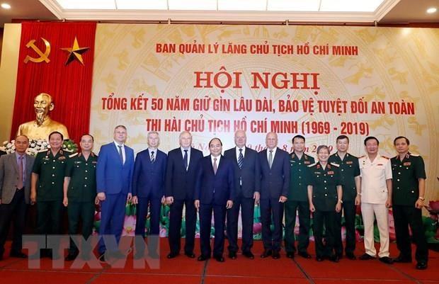 Une reunion de bilan de la preservation de la depouille mortelle du President Ho Chi Minh hinh anh 1