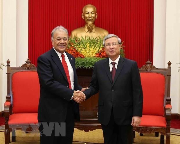 Une delegation du Parti du travail du Mexique en visite au Vietnam hinh anh 1