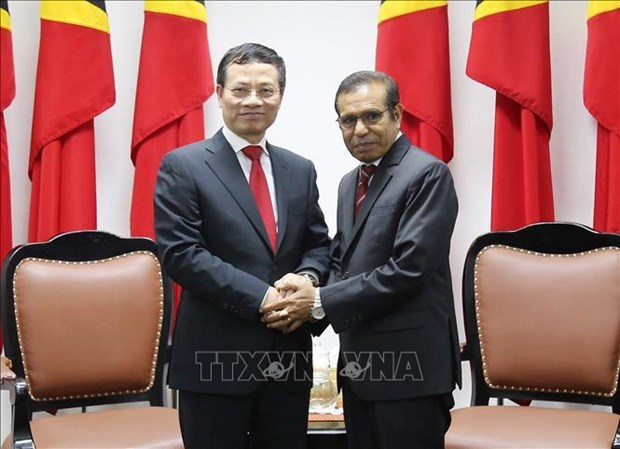 L'envoye special du PM vietnamien termine sa visite au Timor Leste hinh anh 1