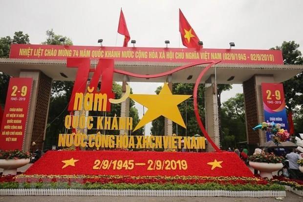 Des etrangers felicitent les dirigeants vietnamiens a l'occasion de la Fete nationale hinh anh 1