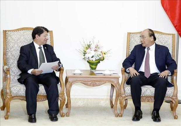 Le PM Nguyen Xuan Phuc recoit le ministre nicaraguayen des AE hinh anh 1