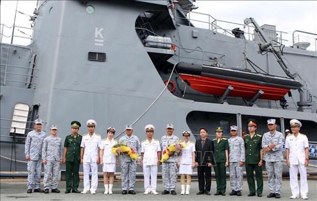 Un navire de guerre philippin entre dans la megapole du Sud hinh anh 1