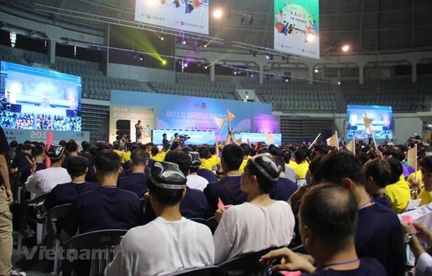 Des travailleurs vietnamiens participent a un festival des travailleurs etrangers en R. de Coree hinh anh 1