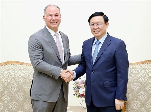 Le vice-PM Vuong Dinh Hue recoit un dirigeant de Gen X Energy hinh anh 1