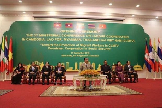 La conference des ministres du Travail des pays CLMTV vise a proteger les travailleurs migrants hinh anh 1