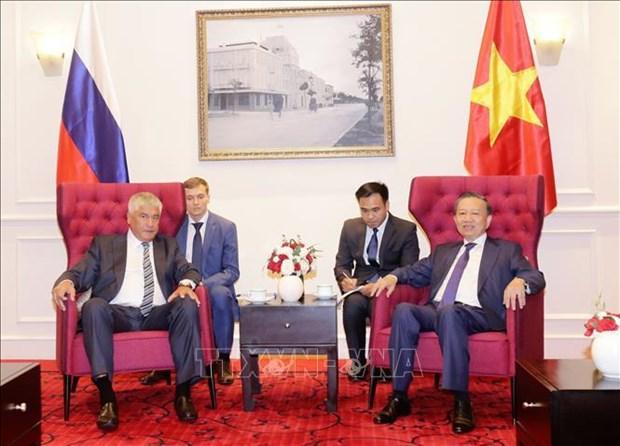 Le ministere de la Securite publique dynamise sa cooperation avec le ministere russe de l'Interieur hinh anh 1