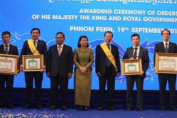 Cambodge: La vice-PM Men Sam An apprecie les contributions de BIDV/BIDC hinh anh 1