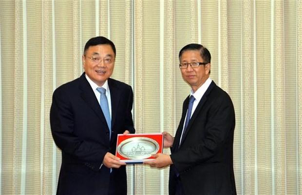 Ho Chi Minh-Ville recoit une delegation de la province chinoise du Jiangsu hinh anh 1