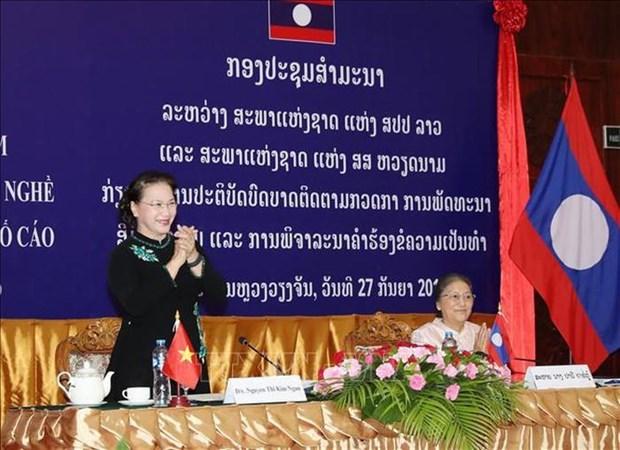AN : seminaire Vietnam-Laos sur la formation professionnelle et le reglement des recours hinh anh 1