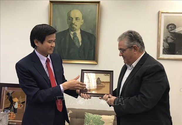 Vietnam-Grece : renforcement des relations entre les deux Partis communistes hinh anh 1