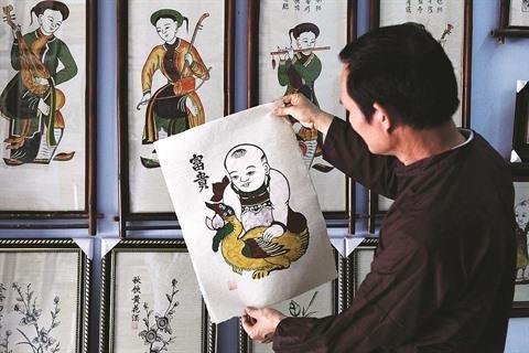 Un dossier sur les estampes de Dong Ho pour l'UNESCO en gestation hinh anh 1