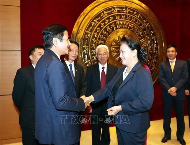 La presidente de l'AN Nguyen Thi Kim Ngan rencontre des ambassadeurs vietnamiens a Hanoi hinh anh 1