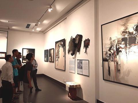 Des œuvres du peintre Le Ba Dang exposees a Hanoi hinh anh 2