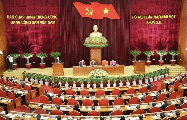 La 5e journee de travail du 11e Plenum du Comite central du Parti s'acheve hinh anh 1