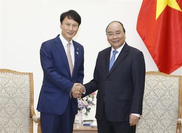 Le Premier ministre recoit le gouverneur de la prefecture japonaise de Kagoshima hinh anh 1
