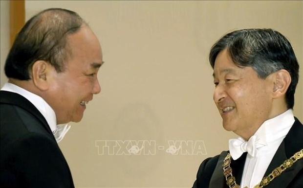 Le PM acheve son sejour au Japon pour participer a l'intronisation de l'empereur Naruhito hinh anh 1
